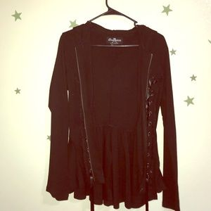 Comfortable Black Laced Sweater